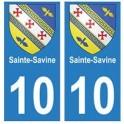 10 Sainte-Savine ville autocollant plaque