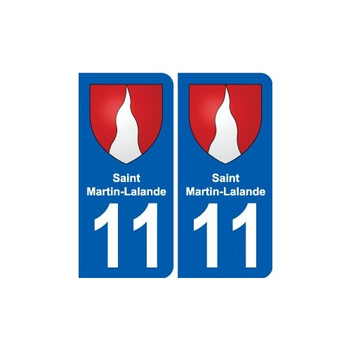 11 Saint-martin-lalande Blason Ville Autocollant Plaque Stickers