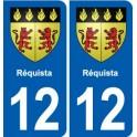 12 Villeneuve blason ville autocollant plaque sticker