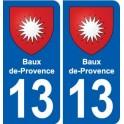 13 Baux-de-Provence blason ville autocollant plaque sticker