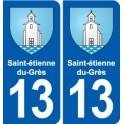 13 Saint-étienne-du-Grès blason ville autocollant plaque