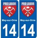 14 Cabourg blason ville autocollant plaque sticker