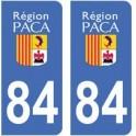 84 Vaucluse autocollant plaque