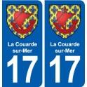 17 La Couarde-sur-Mer coat of arms, city sticker, plate sticker