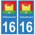 16 Châteaubernard ville autocollant plaque