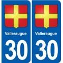 30 Valleraugue coat of arms, city sticker, plate sticker
