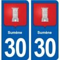 30 Aramon blason ville autocollant plaque stickers