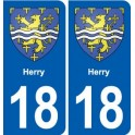 18 Herry coat of arms sticker plate, city sticker