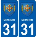 31 Fronton blason ville autocollant plaque stickers