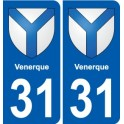 31 Venerque coat of arms, city sticker, plate sticker