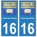 16 Roullet-Saint-Estèphe ville autocollant plaque