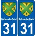 31 Montjoire coat of arms, city sticker, plate sticker