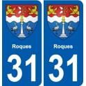 31 Salies-du-Salat blason ville autocollant plaque stickers