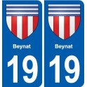19 Beynat coat of arms, city sticker, plate sticker