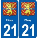 21 Selongey blason autocollant plaque stickers ville