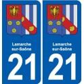 21 Lamarche-sur-Saône, france coat of arms decal plate sticker city
