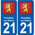 21 Genlis blason autocollant plaque stickers ville