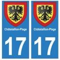 17 Châtelaillon-Plage ville autocollant plaque