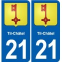 21-Til-Châtel coat of arms sticker plate stickers city