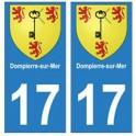 17 Dompierre-sur-Mer ville autocollant plaque