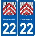 22 Plœuc-sur-Lié blason ville autocollant plaque sticker