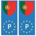 Portugal europe drapeau Autocollant