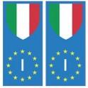 Italie europe drapeau Autocollant