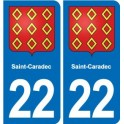 22 Saint-Caradec coat of arms, city sticker, plate sticker