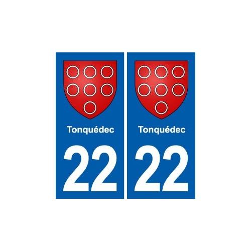 22 Plancoët blason ville autocollant plaque sticker