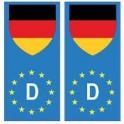Allemagne europe drapeau Autocollant