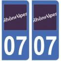 07 Ardèche autocollant plaque