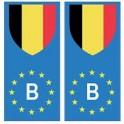 Belgique europe drapeau Autocollant
