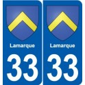 33 Lamarque coat of arms, city sticker, plate sticker
