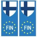 Finlande Suomi europe drapeau Autocollant