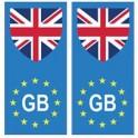 Royaume-Uni europe drapeau Autocollant