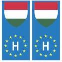 Hungary Magyarország europe flag Sticker