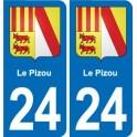 24 Lembrasblason sticker plate sticker department