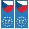 Czech republic Česká republika europe flag Sticker