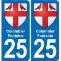 25 Colombier-Fontaine coat of arms sticker plate stickers