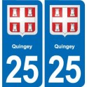 25 Quingey coat of arms sticker plate stickers