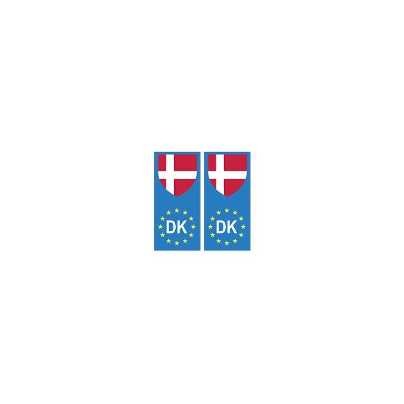 autocollant plaque immatriculation blason danemark europe drapeau. Black Bedroom Furniture Sets. Home Design Ideas