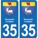 35 Bourg-des-Comptes blason autocollant plaque stickers ville