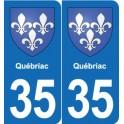 35 Québriac blason autocollant plaque stickers ville