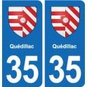 35 Janzé blason autocollant plaque stickers ville