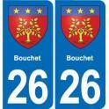 26 Dieulefit blason autocollant plaque stickers ville
