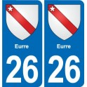 26 Eurre coat of arms sticker plate stickers city