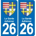 26 La Garde-Adhemar coat of arms sticker plate stickers city