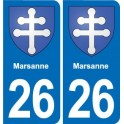 26 Marsanne coat of arms sticker plate stickers city