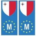Malte Matla europe drapeau Autocollant
