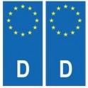 Deustchland Allemagne europe autocollant plaque